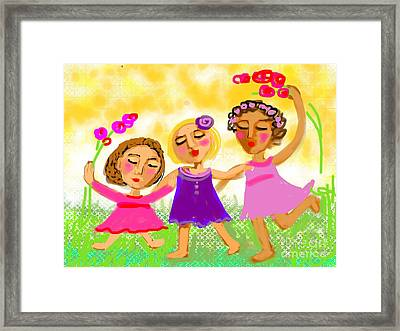 Framed Print featuring the digital art Happy Days by Elaine Lanoue