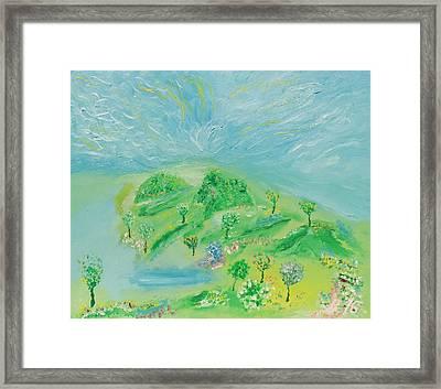 Happy Days. Landscape Framed Print