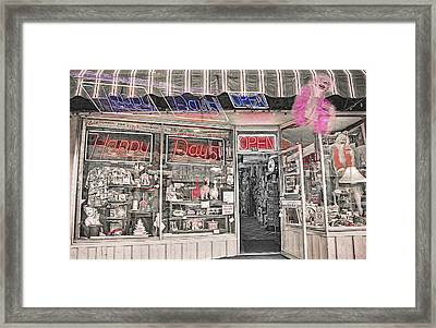 Happy Days - Memorabilia Shop Framed Print by Steve Ohlsen