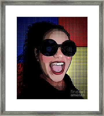 Happy  Framed Print by Delein Padilla