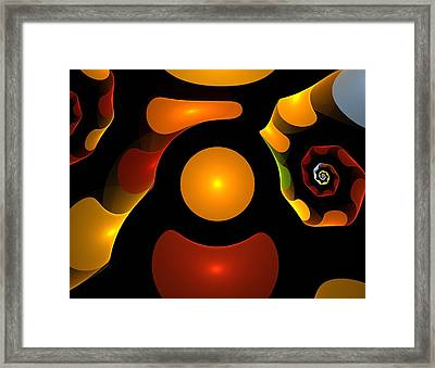 Happy Digit Framed Print