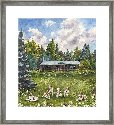 Happy Dogs Framed Print by Anne Gifford
