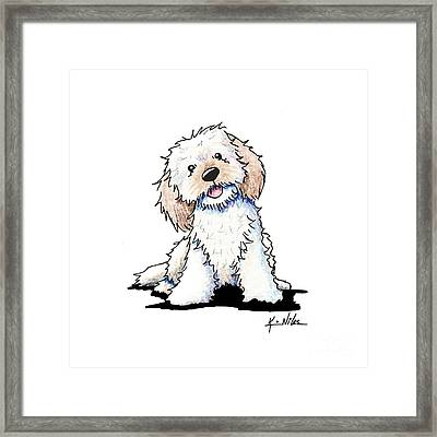 Happy Doodle Puppy Framed Print by Kim Niles
