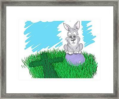 Happy Easter Framed Print by Antonio Romero