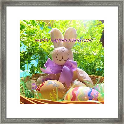 Happy Easter Everyone Framed Print