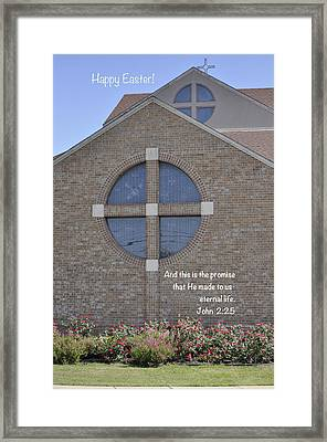 Happy Easter IIi Framed Print by Kristina Deane