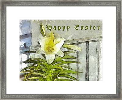 Framed Print featuring the photograph Happy Easter Lily by Claire Bull