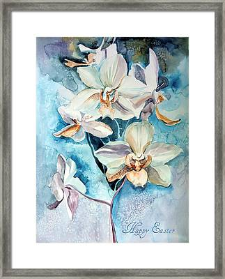Happy Easter Framed Print by Mindy Newman