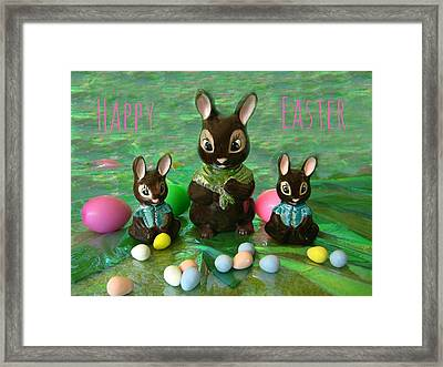 Happy Easter Framed Print by Shirley Sirois