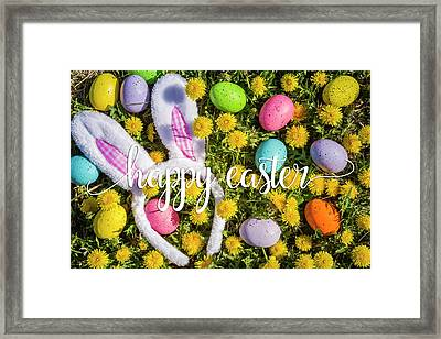 Framed Print featuring the photograph Happy Easter by Teri Virbickis