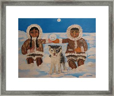 Happy Eskimo's Framed Print