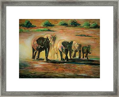 Happy Family Framed Print by Khalid Saeed