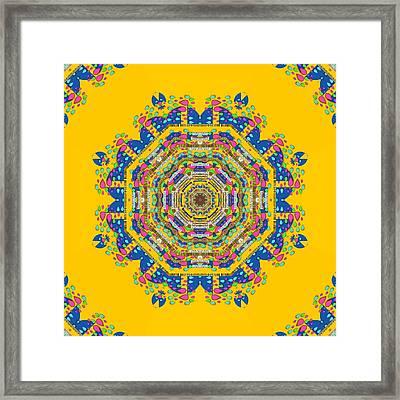 Happy Fantasy Earth Mandala Framed Print