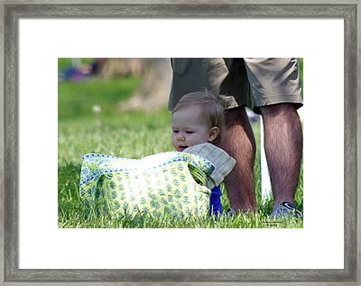 Happy Father's Day Framed Print by Jenny Gandert