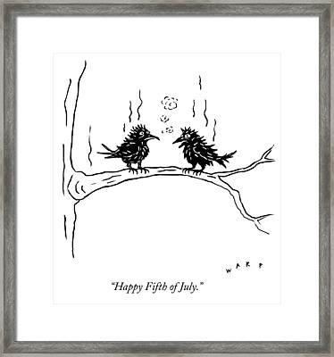 Happy Fifth Of July Framed Print
