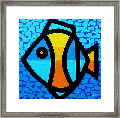 Happy Fish Framed Print by John  Nolan