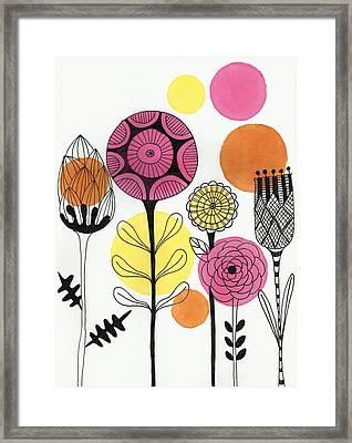 Happy Flowers Framed Print by Lisa Noneman