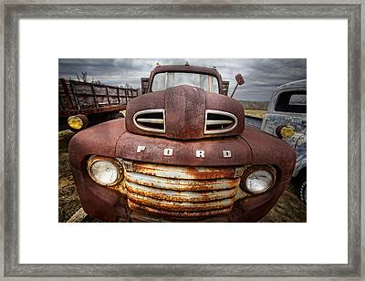 Happy Ford Framed Print by Debra and Dave Vanderlaan