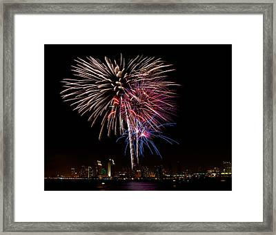 Happy Fourth Of July Framed Print by Thanh Thuy Nguyen