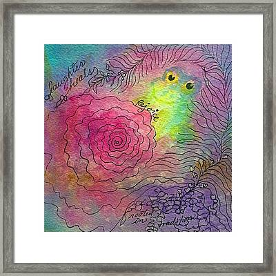 Happy Frog Framed Print by Ellen Levinson
