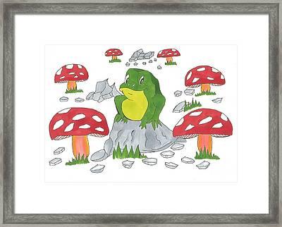Happy Frog Framed Print