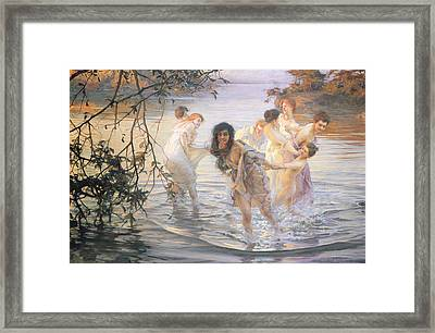 Happy Games Framed Print by Paul Chabas
