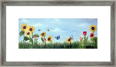 Framed Print featuring the painting Happy Garden by Carol Sweetwood