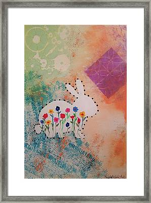 Happy Garden Framed Print