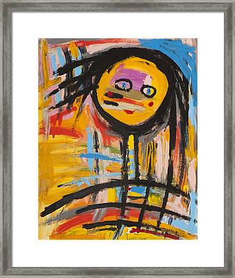 Happy Girl Abstract  Framed Print by Maggis Art