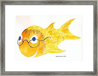 Happy Golden Fish Framed Print