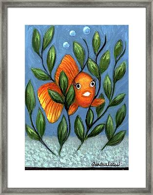 Happy Goldfish Framed Print