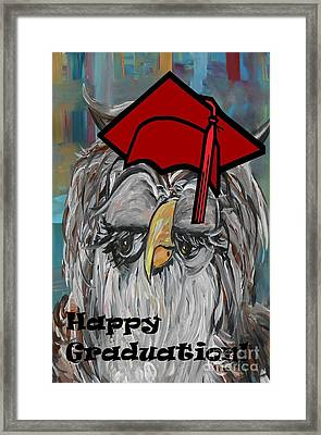Happy Graduation Framed Print by Eloise Schneider