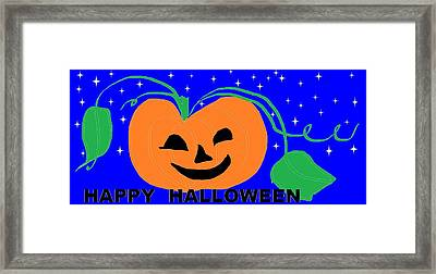Happy Halloween 1 Framed Print by Linda Velasquez
