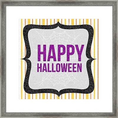 Happy Halloween-art By Linda Woods Framed Print