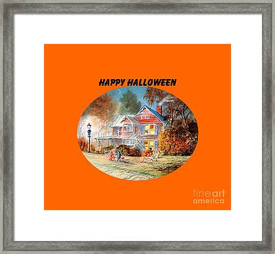 Happy Halloween Framed Print by Bill Holkham