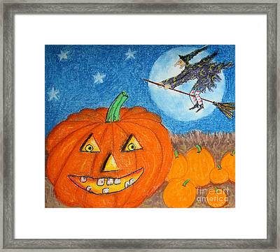 Happy Halloween Boo You Framed Print