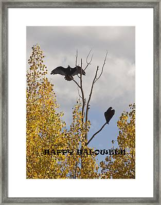 Framed Print featuring the photograph Happy Halloween by Daniel Hebard