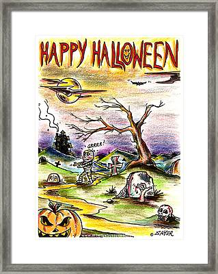 Happy Halloween Framed Print by James Sayer