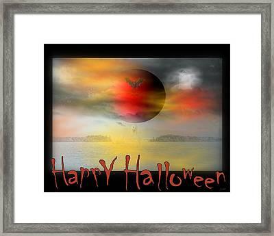 Happy Halloween Framed Print by Linda Galok