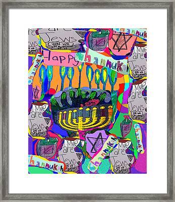 Happy Hannuka Framed Print