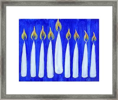 Happy Hanukkah Framed Print by BlondeRoots Productions