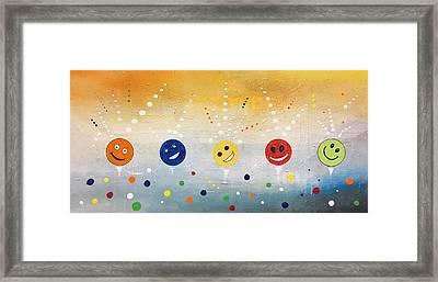 Happy Happy Joy Joy Framed Print by Germaine Fine Art