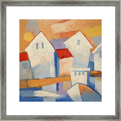 Happy Harbour Framed Print