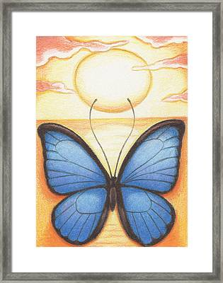 Happy Heart Framed Print by Amy S Turner