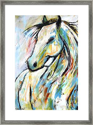 Framed Print featuring the painting Happy Heart by Cher Devereaux