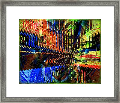 Framed Print featuring the tapestry - textile Happy Heart by Fania Simon