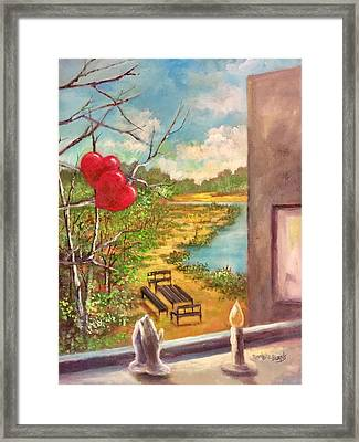 Happy Hearts Framed Print by Randy Burns