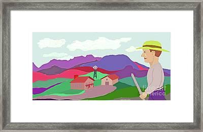 Happy Highland Farm Framed Print by Fred Jinkins