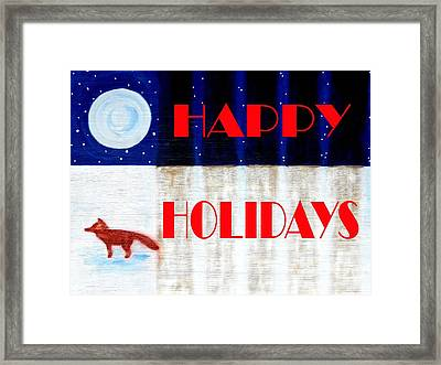 Happy Holidays 12 Framed Print by Patrick J Murphy