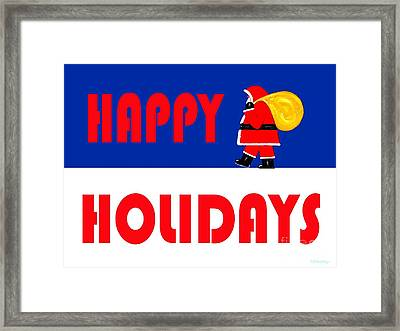 Happy Holidays 15 Framed Print by Patrick J Murphy